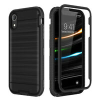 Case For iPhone X XS MAX XR With Screen Protector Full Rugged Armor Cover