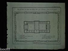 Plan du Palais du Bois du Liban bâti par Salomon - gravure XVIII - le P. Lami