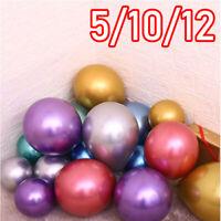 "10 CHROME BALLOONS METALLIC LATEX PEARL 5""10""12""18"" Helium Balloon Birthday UK"