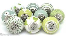10 estas perillas de cerámica por favor leves segundos Armario Aspecto Vintage Verde JL2