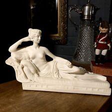 Statua di marmo di dio greco Atlante come portacandele scultura ornamento. ARTE