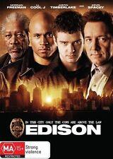 EDISON Morgan Freeman, LL Cool J, Justin Timberlake, Kevin Spacey DVD NEW