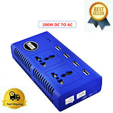 Power Inverter 400W Peak Surge Power Car Boat 12V to AC 220V Adapter Converter