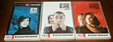 TROIS COULEURS BLEU +  BLANC +  ROUGE -  KIESLOWSKI / LOT DE 3 DVD 3 FILMS