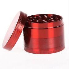 Red Herb Grinder 4 Layers Metal Tobacco Crusher Hand Muller Smoke Herbal