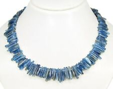 Gorgeous Necklace from Gemstone Kyanite In Form of an Irregular Rods