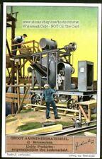 Concrete Mill Heavy Equipment 1930s Trade Ad Card