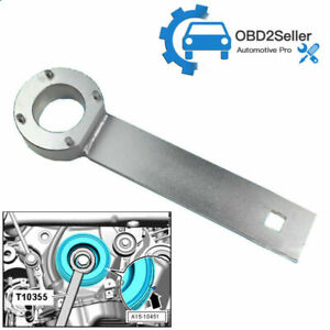 T10355 CRANK PULLEY COUNTER HOLDING WRENCH 4 VIBRATION DAMPER VW AUDI 1.8&2.0
