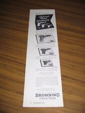 1954 Print Ad Browning Automatic Pistols 4 Models Shown Made in Belgium