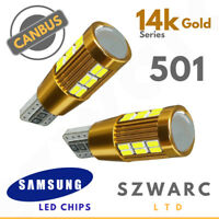 Volvo S60 Mk2 10-on Bright CANBUS DEL Blanc plaque d/'immatriculation 36 Mm C5W 3 SMD Ampoules