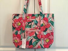 NWT Vera Bradley Villager Vintage Floral Purse NEW Tote Bag Pink Green Flowers
