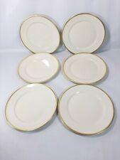 "Rosenthal Aida 7 3/4"" Salad Plates Cream & Gold *Lot Of 6*"