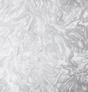 Liquid Marble Grey Wallpaper Arthouse Textured Glitter Silver White Modern693901