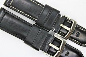 Handmade Watch Strap Genuine Smooth Leather Padded Sporty Character 22mm 24mm