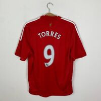 LIVERPOOL HOME FOOTBALL SHIRT 2008/2010 #9 TORRES SOCCER JERSEY ADIDAS SIZE L