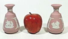 Vintage Pink Jasperware Wedgwood Vase