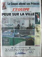 L'Equipe du 14-15/5/1994 - F1 à Monaco - Foot : finale de la Coupe - Cantona