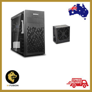 Combo Deepcool Matrexx 30 Tempered Glass Mini-Tower Micro-ATX Case with 450W PSU