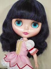"Takara 12"" Neo Blythe Nude Doll from Factory  No.277 Black Mix Purple Hair"