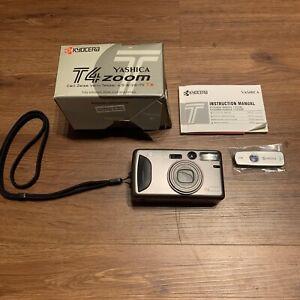 Kyocera Yashica T (T4) zoom film camera Zeiss Vario Tessar 4.5-8/28-70mm T*
