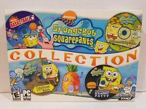 SpongeBob SquarePants Collection Big Box (PC 2004) Rare Factory Sealed 4 Games