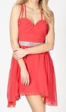 Lipsy Chiffon Dresses Round Neck Mini