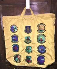 Authentic Flyers Helmet Bag with 12 Collectible Air Force Patches – Pristine!