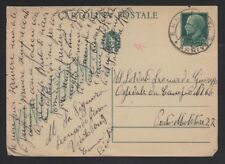 ITALY 19(?) 15c POSTAL STATIONERY CARD ENNA TO MILITARY POST OFFICE #27