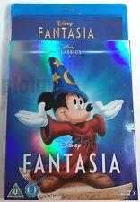 FANTASIA w/ Classics SLIPCOVER New BLU-RAY Movie 1940 Walt Disney Animated Film