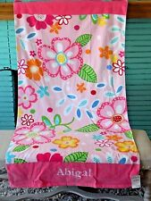 Pottery Barn Kids Beach Towel -  Personalized Monogrammed - Abigal
