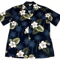 Pacific Legend Mens Hawaiian Floral Short Sleeve Shirt (M) 100% Cotton Mint!