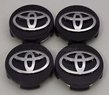 4x Toyota Camry Highlander Prius Sienna Venza Avalon Matrix Black Center Caps