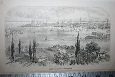 VIEW OF CONSTANTINOPLE 1800'S ENGRAVING