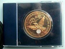 """israelische münze """"AIRPLANES THAT MADE HISTORY"""" AUSTER*1948 kupfer vergoldet"""