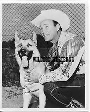 ROY ROGERS & dog BULLET promo RARE Photo VINTAGE ORIGINAL western cowboy SWEET!