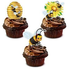 BUMBLEBEE BEE *STAND UPS* edible cup cake toppers decorations