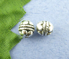 80 X SILVER TONE BALI CARVED SPACER BEADS 5 X 5 MM 00527
