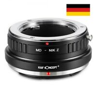 K&F Concept Adapter Minolta MD Objektiv auf Nikon Z Mount Kamera MD-NIK Z