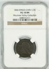 NGC VG10 1804 Draped Bust Spiked Chin Half Cent 1/2C - Maumee Valley Collection
