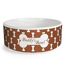 Personalised Bones Pattern Custom Design Dog Bowl Cat Pet Food Dinner Dish