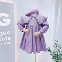Girls Kids Childs Fall CrewNeck Comfort Tutu Dress LongSleeve Boutique Gifts