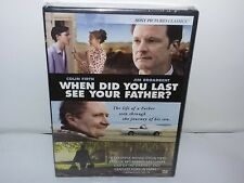 When Did You Last See Your Father (DVD, Canadian, Widescreen) NEW - Extras