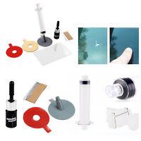 Kit para reparación de cristal de parabrisas mediante resina con instrucciones