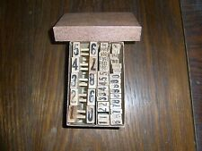altes Stempel Set 42 teilig im Karton Holz/Gummi Stempel verschiedenes