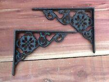 10 Flower Shelf Brace Shelf Bracket Corbel Cast Iron Rustic Garden FREE SHIPPING
