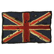Embroidered Vintage British UK Flag Union Jack Iron on Sew on Biker Patch Badge