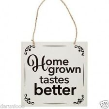 Welcome to My Garden Home Grown Large Metal Wall Hanging Plaque Sign