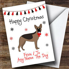German Shepherd From Or To The Dog Pet Personalised Christmas Card