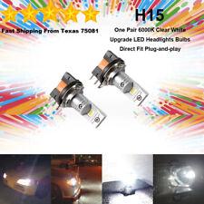 H15 LED Headlight Bulbs Kit High Beam Super Bright Premium Lamp 35W 6000K White