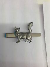 Maine Coone Cat PP-C07 English Pewter Emblem on a Tie Clip (slide)